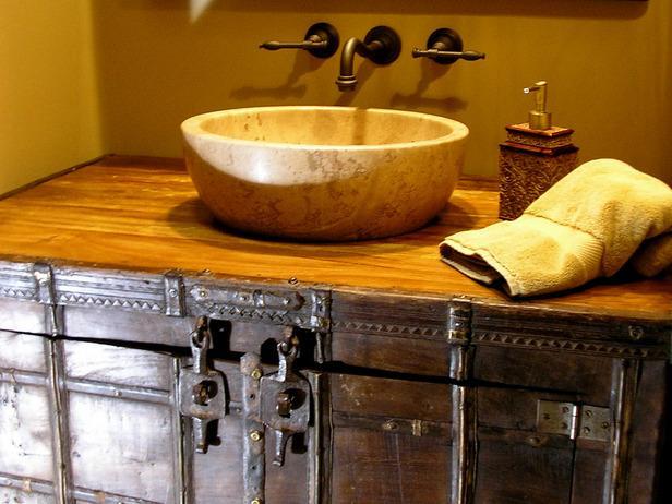 Decora tu ba o al estilo r stico - Muebles de lavabo rusticos ...